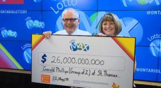 $26 million richer grandparents to share millions with children and grandchildren.